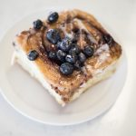 Cinnamon bun blueberries