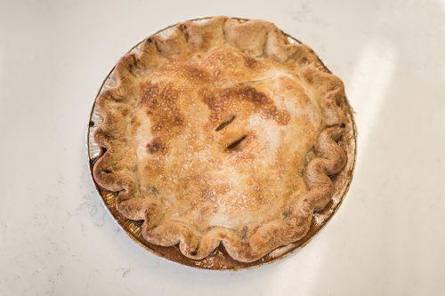 Pie above