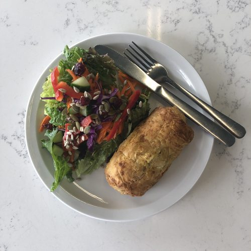 Salad sausage roll
